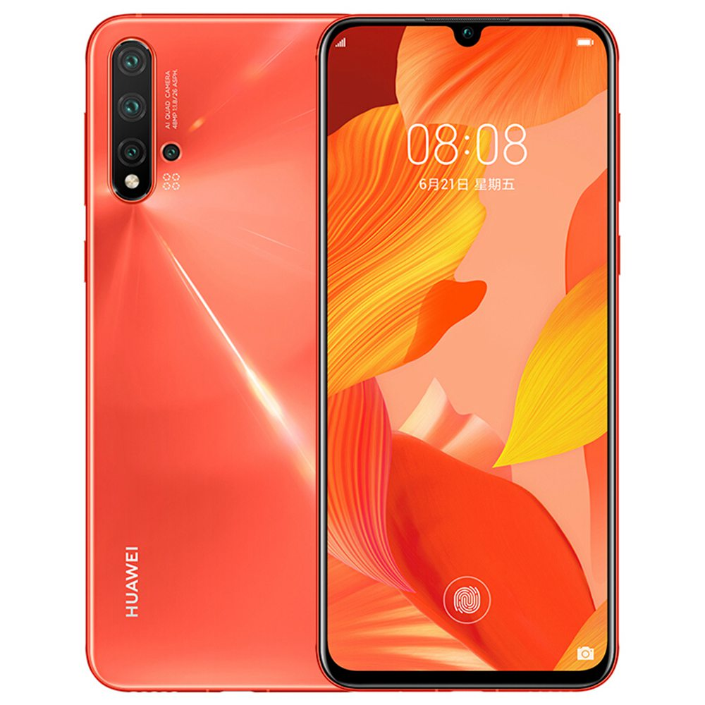 HUAWEI Nova 5 Pro CN Version 6.39 Inch 4G LTE Smartphone Kirin 980 8GB 256GB 48.0MP+16.0MP+2.0MP+2.0MP Quad Rear Cameras Android 9.0 In-display Fingerprint Fast Charge - Orange