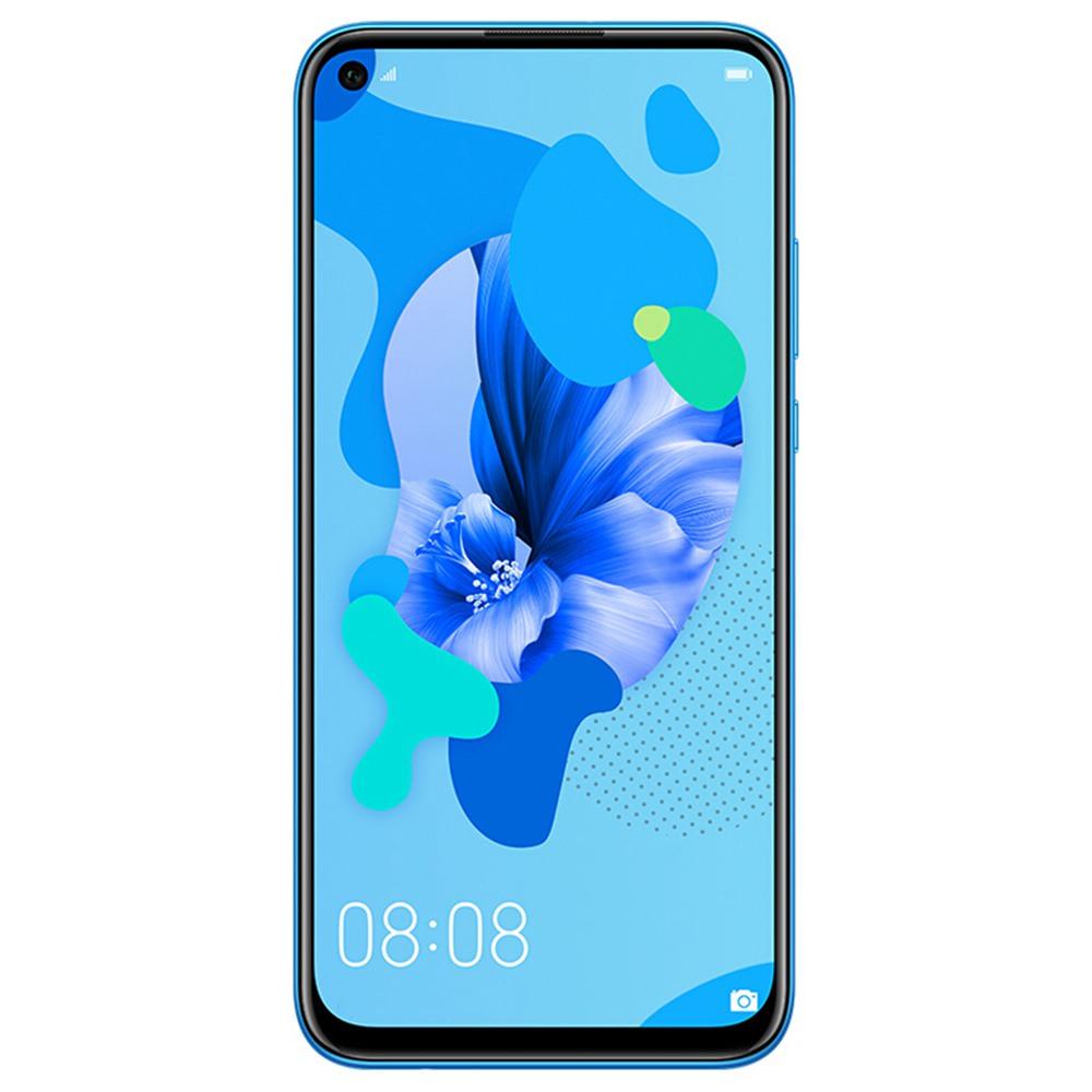 HUAWEI Nova 5i CN 6.4 hüvelykes Smartphone FHD + képernyő Kirin 710 6 GB 128 GB 24.0MP + 8.0MP + 2.0MP + 2.0MP Quad hátsó kamerák Android 9.0 - kék