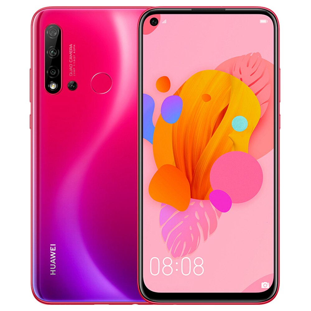 HUAWEI Nova 5i CN Version 6.4 Inch Smartphone FHD + Screen Kirin 710 6GB 128GB 24.0MP + 8.0MP + 2.0MP + 2.0MP Quad Rear Cameras Android 9.0 - Red