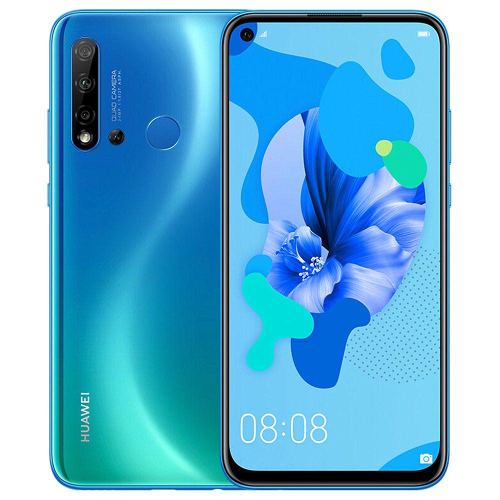 HUAWEI Nova 5i CN 6.4 hüvelykes Smartphone FHD + képernyő Kirin 710 8 GB 128 GB 24.0MP + 8.0MP + 2.0MP + 2.0MP Quad hátsó kamerák Android 9.0 - kék