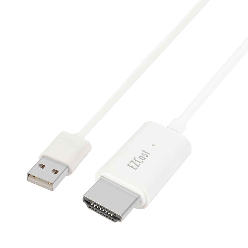 EZCAST USB2.0 TO HDMI Καλώδιο μετάδοσης για Windows / Mac / OS 1080P - Λευκό