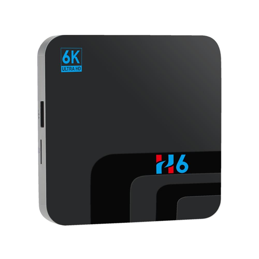 H6 Allwinner H6 Android9.0 4G / 32G 6K HDR TV Box 2.4G WiFi 100Mbps LAN USB3.0 - Fekete
