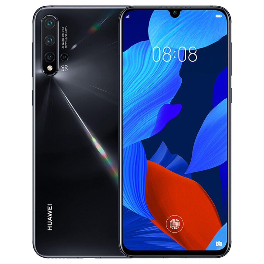 HUAWEI Nova 5 CN 6.39 hüvelykes FHD Smartphone + Képernyő Kirin 810 8 GB 128 GB 48.0MP + 16.0MP + 2.0MP + 2.0MP Négy hátsó kamera Android 9.0 - fekete