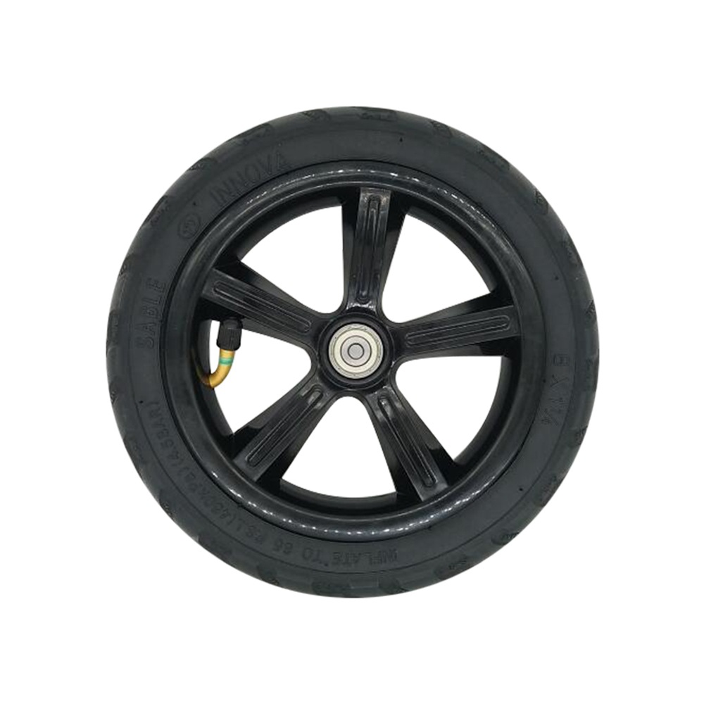 Pneumatic Rear Tire For KUGOO S1 Including Hub - Black