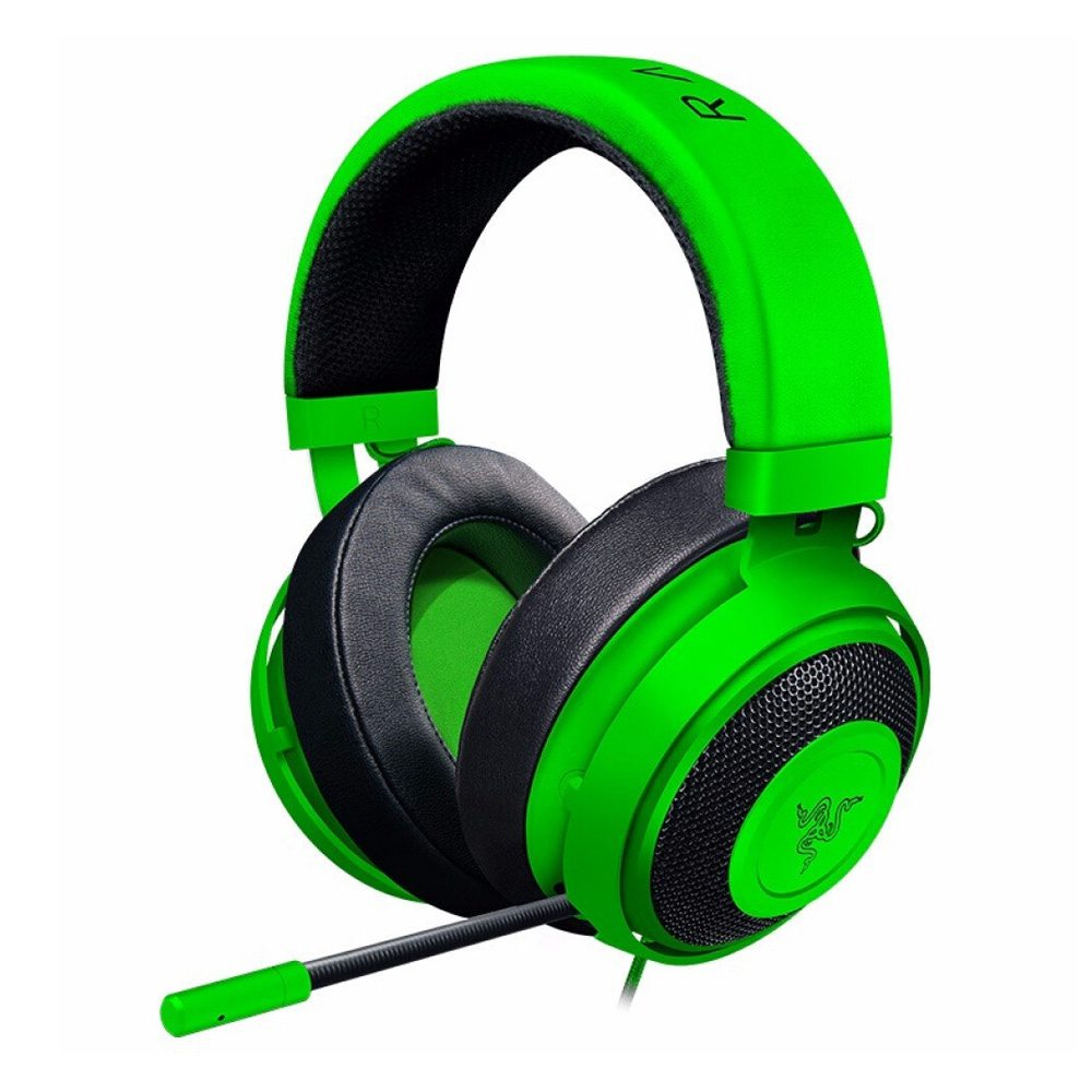 Razer Kraken 3.5mm Gaming Headset Noise Cancelling In-Line Audio Controls for PC PS4 N-Switch - Green