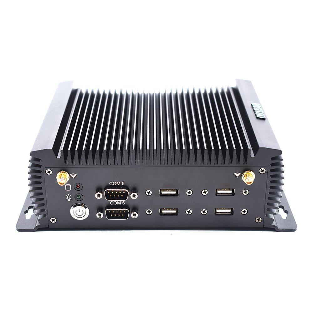 HYSTOU P12 Intel Core i5-4200U 8G RAM 128G SSD كمبيوتر بدون مروحة صغير 2.4G + 5G WIFI LAN 1000M COM USB3.0 HDMI + VGA