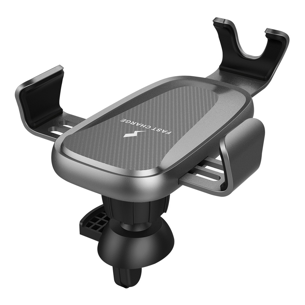 Smart Wireless Car Charger X276 Fast Charging Air Vent Phone Holder For Qi-Enabled Cellphones - Black