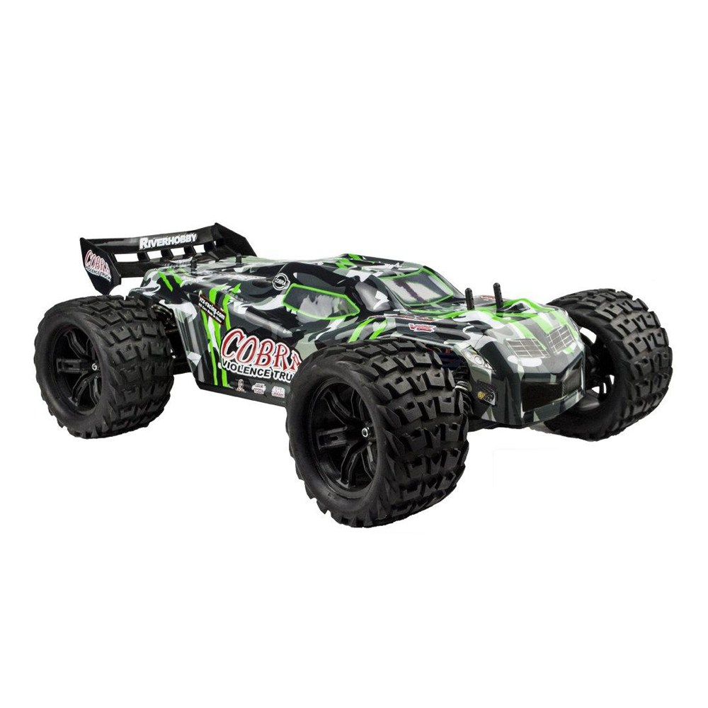 VRX Racing RH818 COBRA 1 / 8 2.4G 4WD 60km / h Brushless Electric Monster Truck RC Auto con trasmettitore Flysky Ground RTR