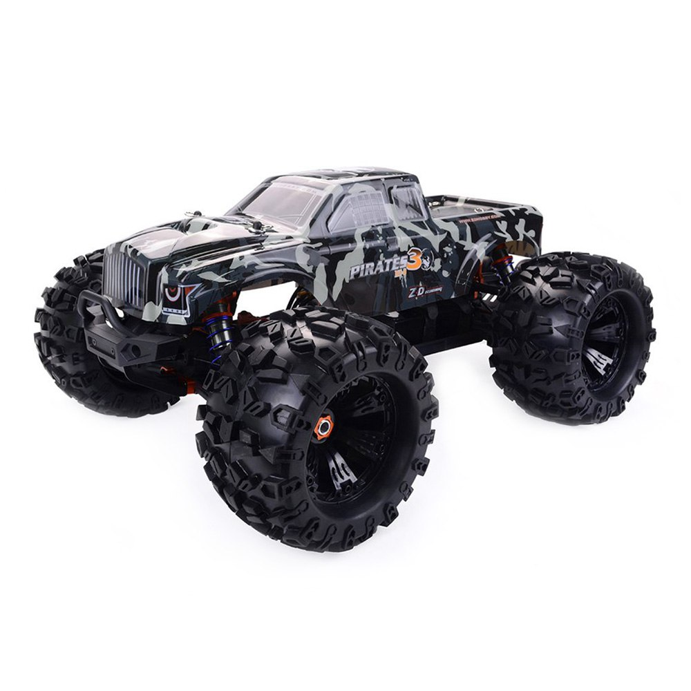 ZD Racing MT8 Pirati 3 1 / 8 2.4G 4WD Monster Truck Metal Chassis RC Auto senza kit di parti elettroniche