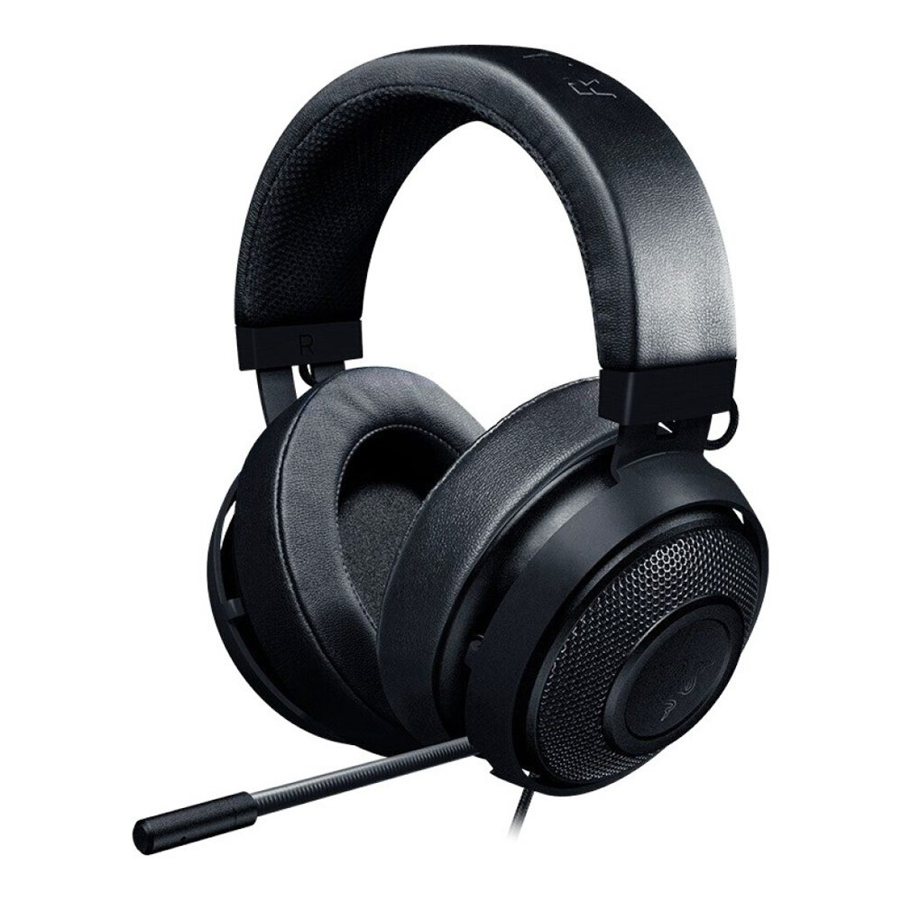 Razer Kraken Új verzió 3.5mm Gaming Headset In-Line hangvezérlők Zajcsökkentés PC PS4 N-Switch -Black
