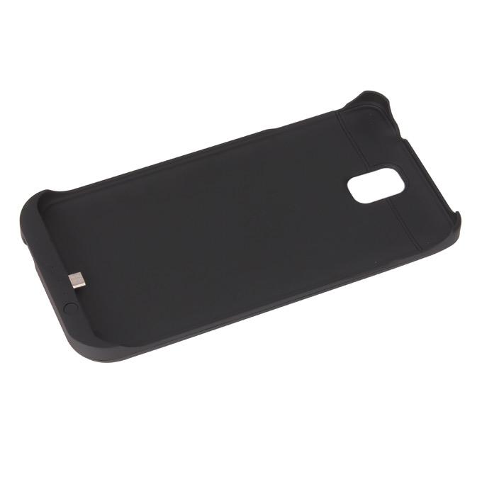 Cas de batterie de secours rechargeable externe USB portable pour Samsung Galaxy Note 3 Smartphone 3800mAh - Noir