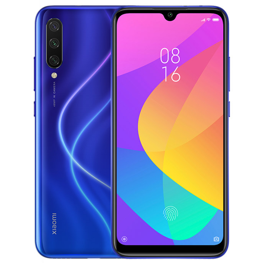 Xiaomi Mi A3 6.088 Inch HD+Screen 4G LTE Smartphone Snapdragon 665 4GB 64GB 48.0MP+8.0MP+2.0MP Three Rear cameras Android One Global Version - Blue
