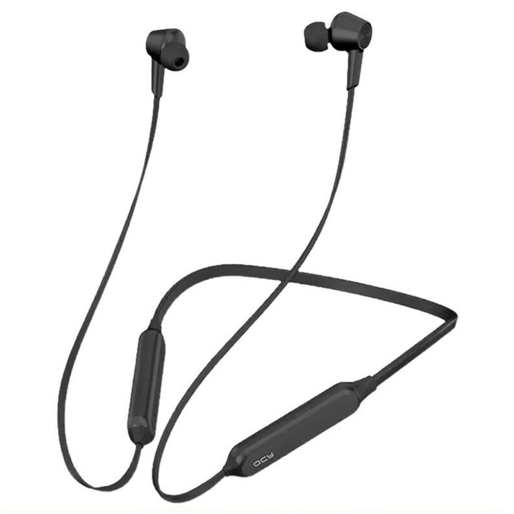 QCY L2 Bluetooth 5.0 AAC / SBC有線イヤホンANC 13hマイク付きバッテリー寿命-ブラック