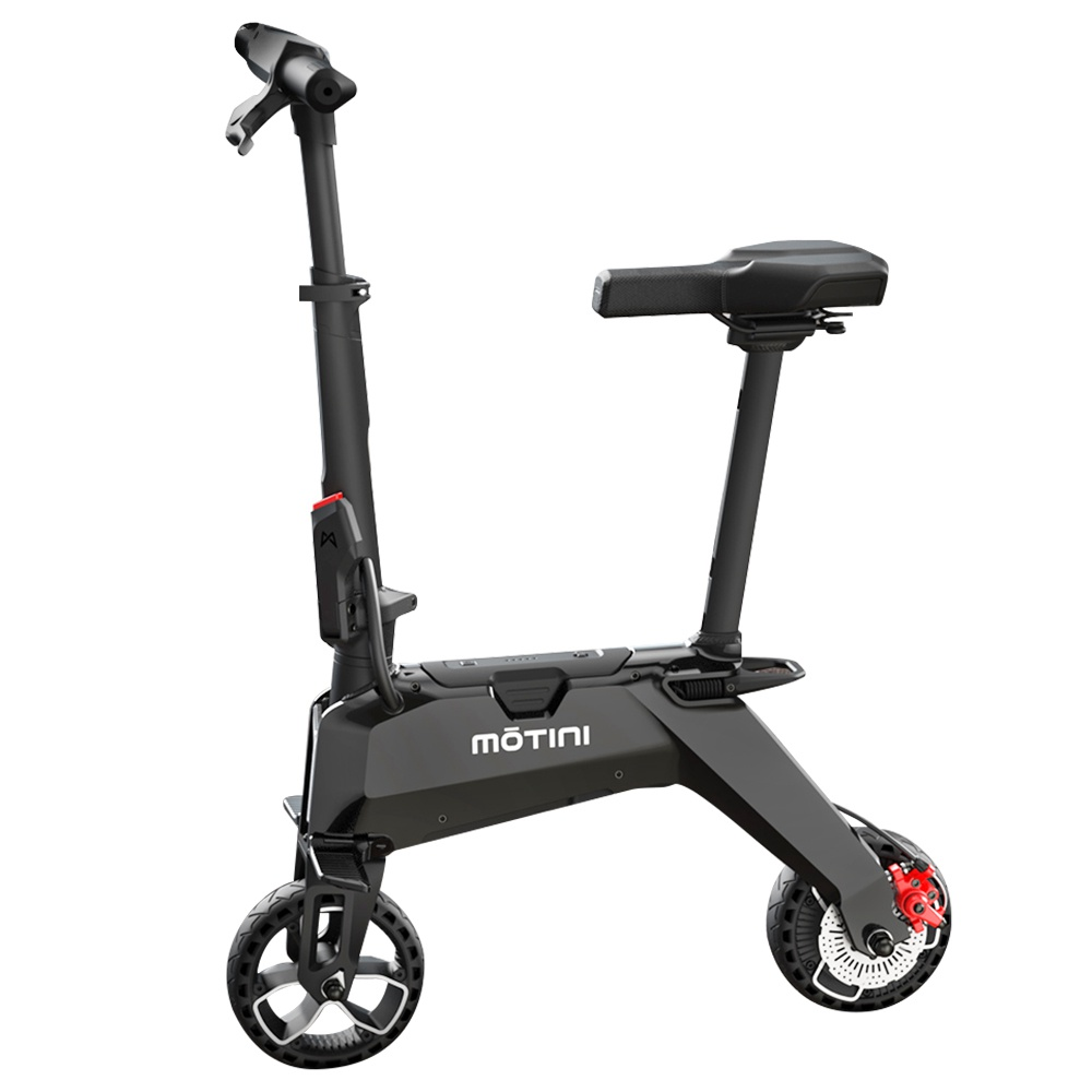 MOTINI Nano Mini Portable Electric Moped Scooter 250W Motor 7 Inch Tire - Black