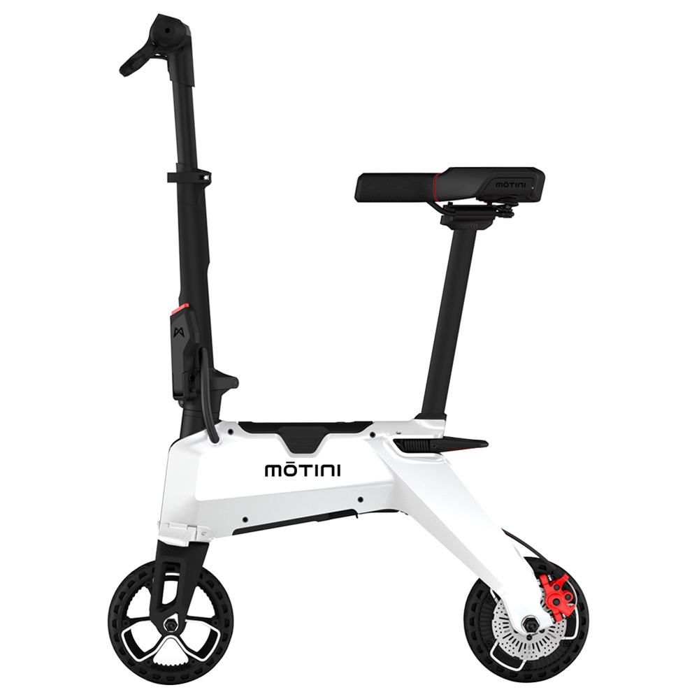 MOTINI Nano Mini tragbarer Elektroroller 250W Motor 7 Zoll Reifen - Weiß