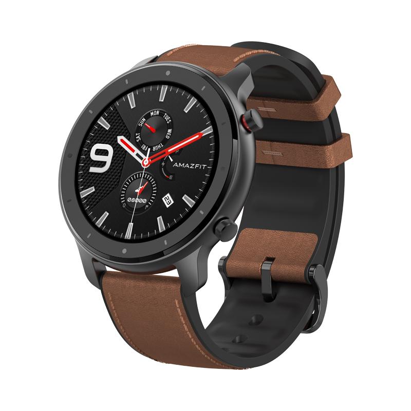 Huami AMAZFIT GTR Smartwatch 1.39 Inche retina Display 5ATM Madzi Resistant GPS 47mm Global Version- Aluminium Alloy