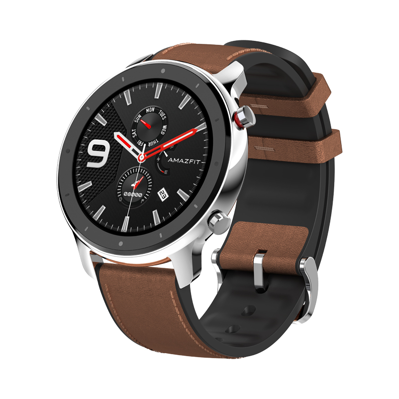 Huami AMAZFIT GTR Smartwatch 1.39 Zoll Retina Display 5ATM Wasserdichtes GPS 47mm Global Version - Edelstahl