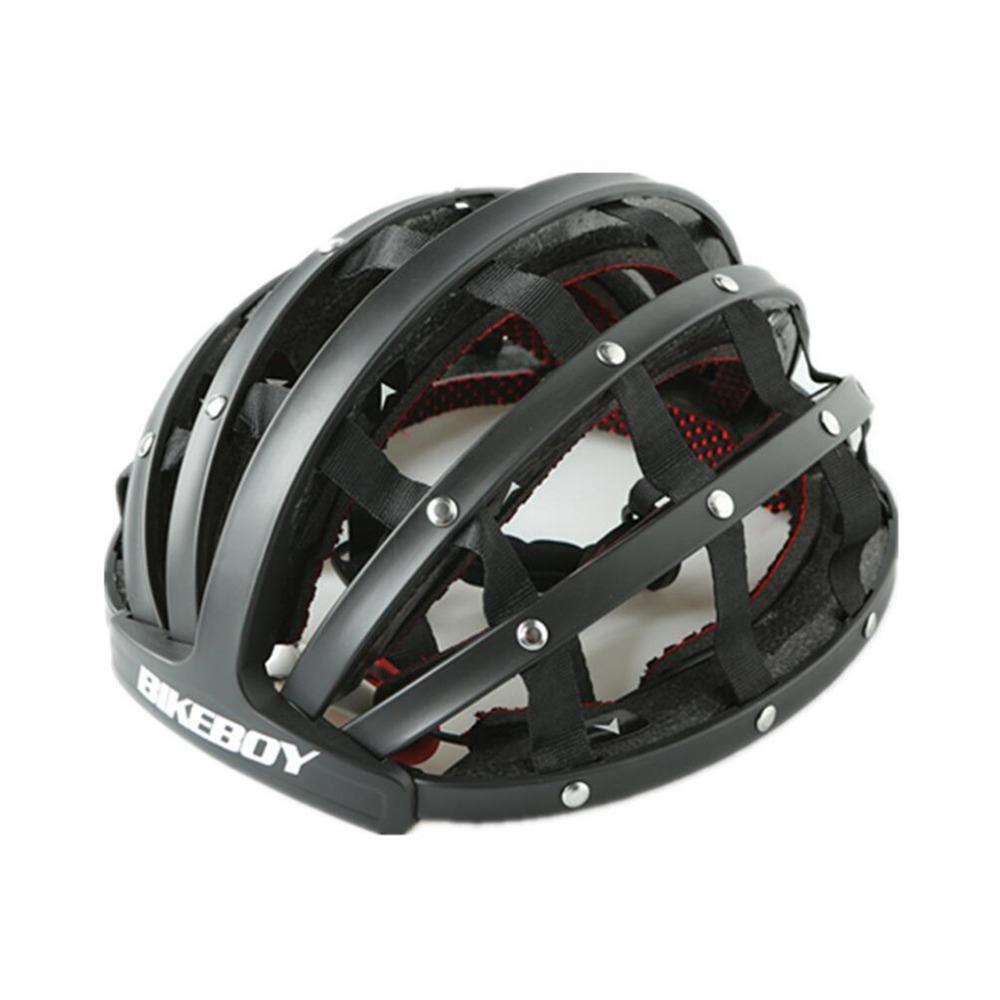 Foldable Mountain Bike Helmet Cycling Helmet For KUGOO S1 Scooter - Black