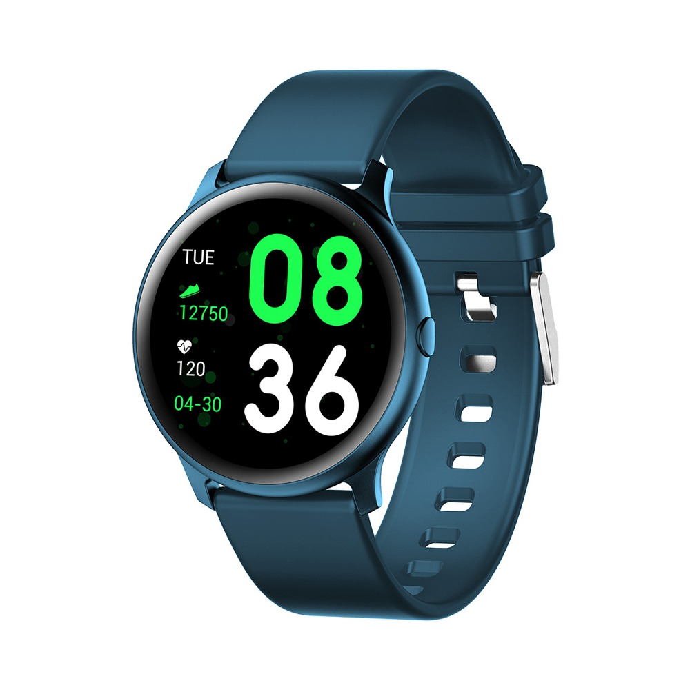 KW19 SmartWatch 1.3 Inch TFT HD Screen IP67 Bluetooth 4.0 رصد معدل ضغط الدم - الأزرق