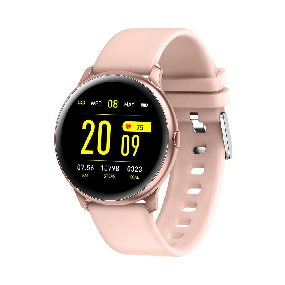 KW19 οθόνη SmartWatch 1.3 οθόνη TFT HD IP67 Bluetooth 4.0 καρδιακή συχνότητα παρακολούθηση αρτηριακής πίεσης - Rose Gold