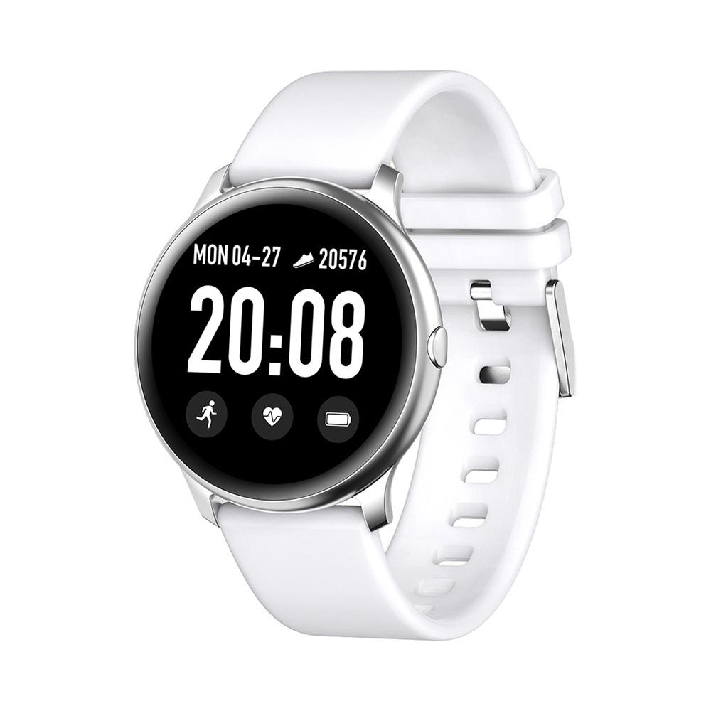 SmartWatch KW19 1.3 дюймовый TFT HD экран IP67 Bluetooth 4.0 Монитор артериального давления сердечного ритма - белый