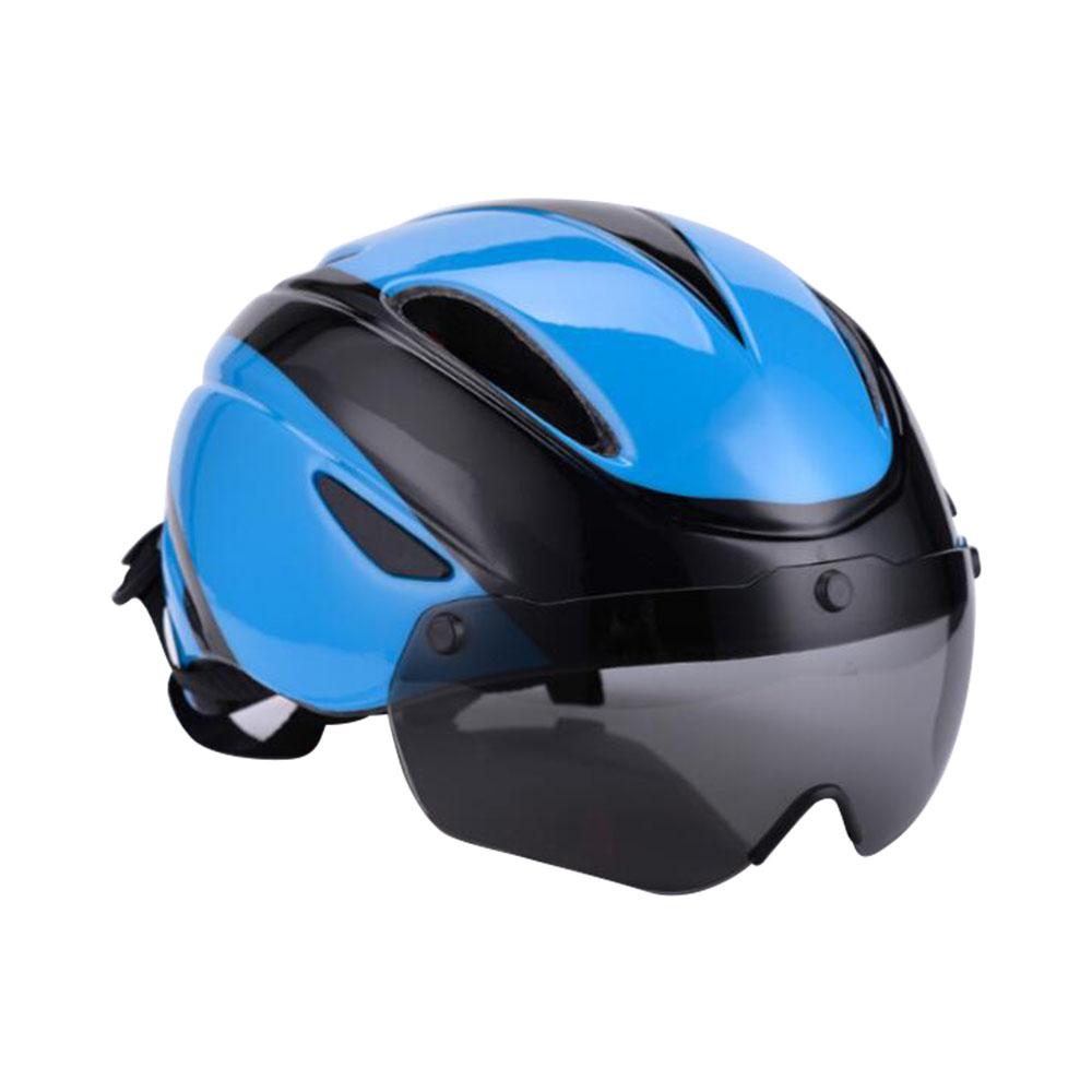 ゴーグル自転車ヘルメットスポーツ安全サイクリングヘルメットKugoo用 - ブルー