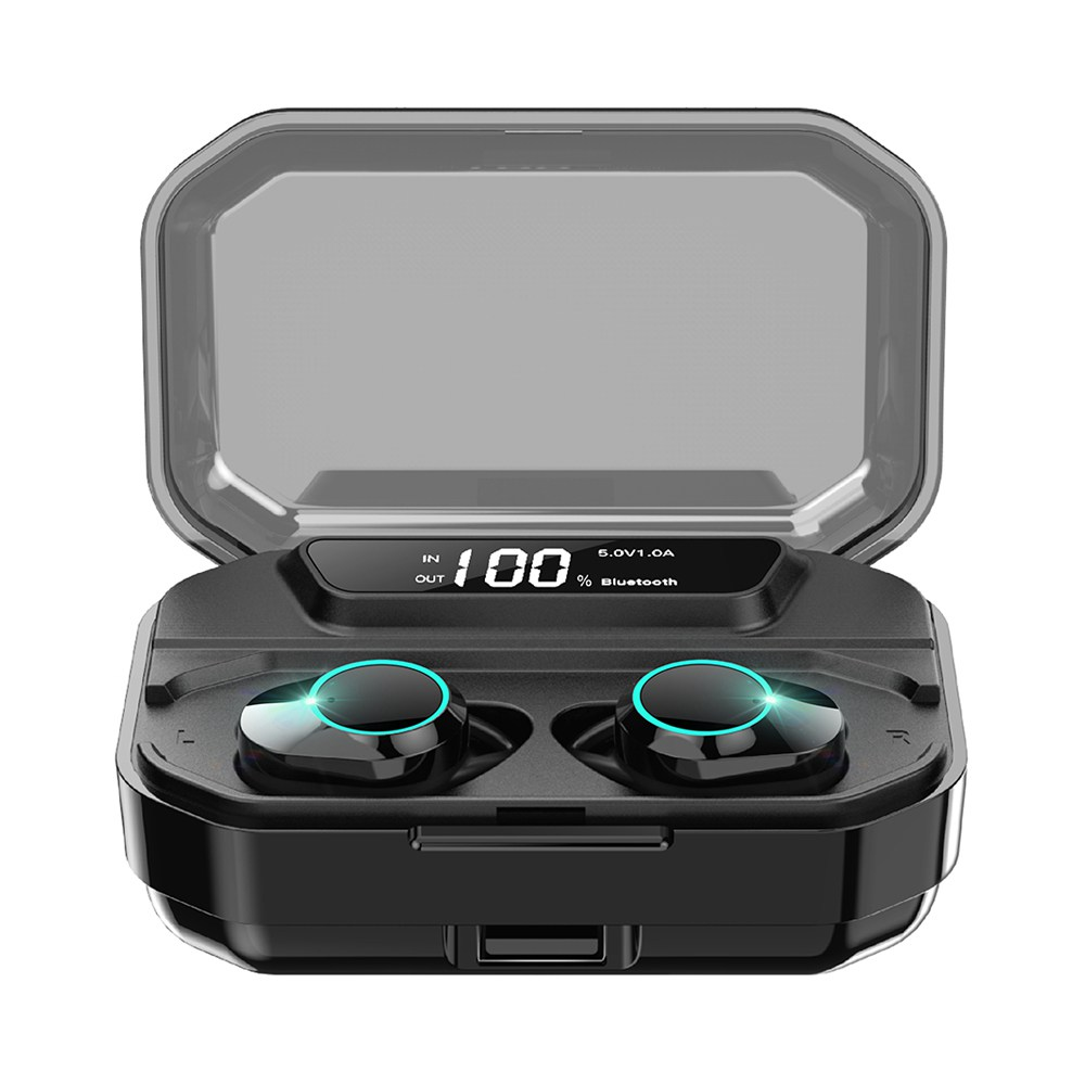 KUMI T3S TWS Bluetooth 5.0 Earphones 6D Heavy Bass Earbuds Touch control with Charging box 3300mAh- Black фото