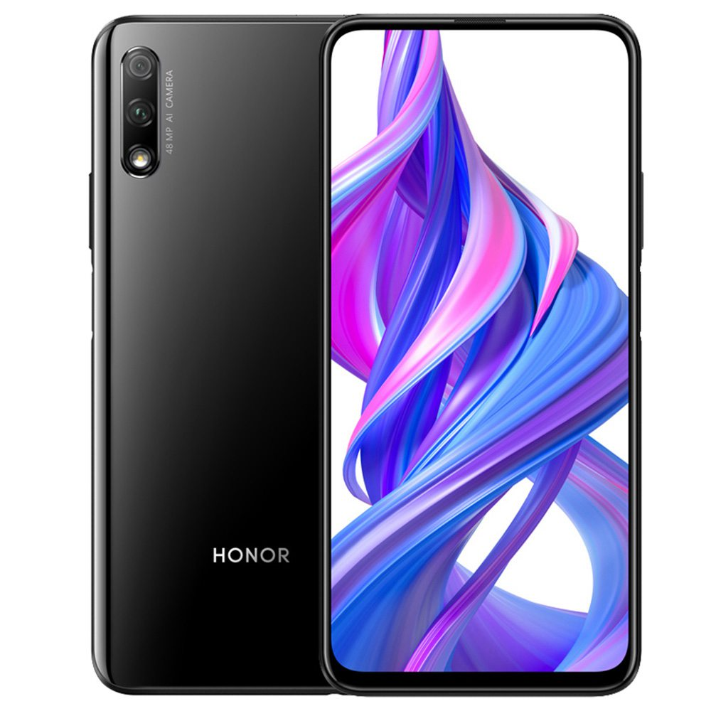 Huawei Honor 9X CN Version 6.59 Inch 2340 * 1080P Screen 4G LTE Smartphone Hisilicon Kirin 810 6GB 128GB 48.0MP + 2.0MP Dual Rear Cameras Android 9.0 Dual SIM - Black