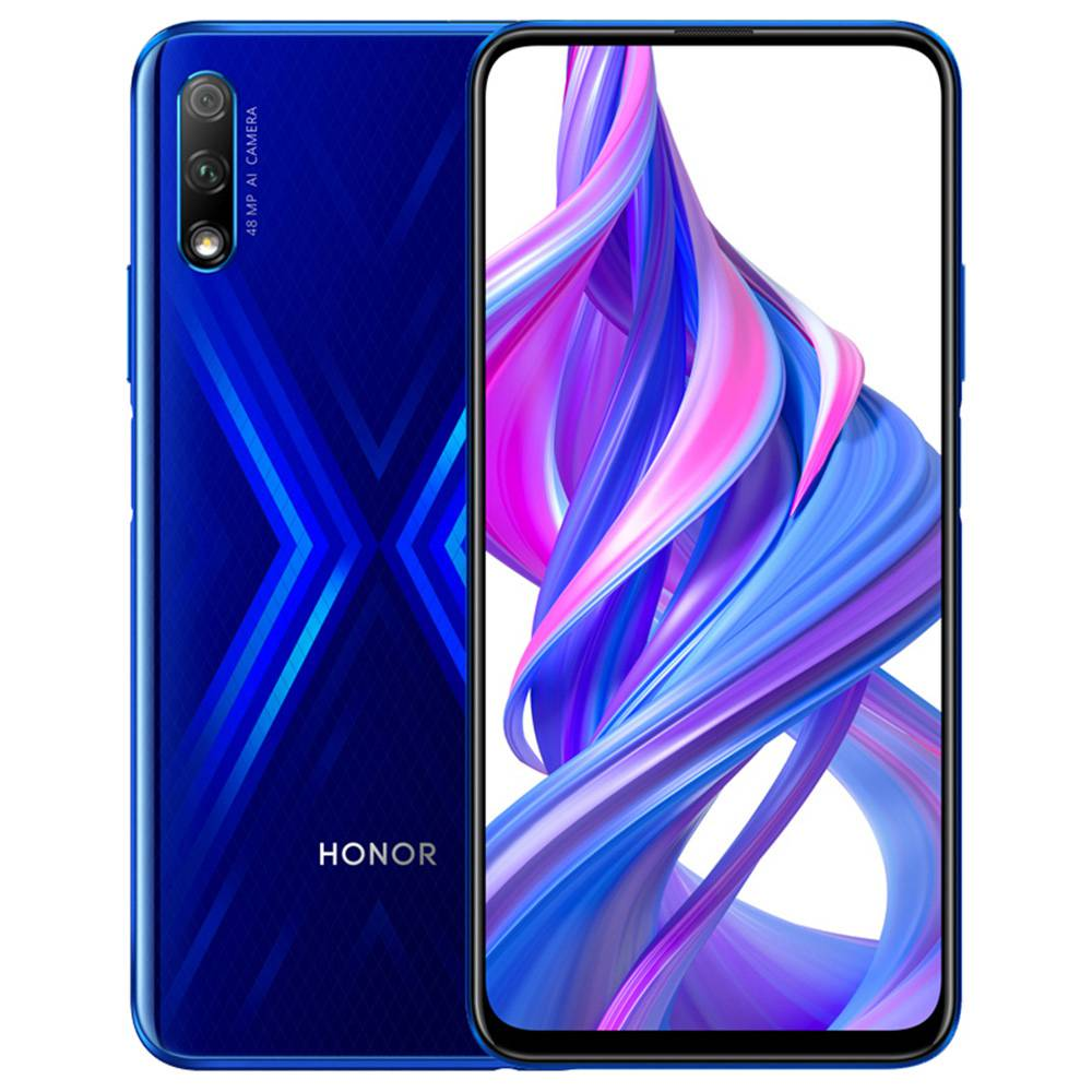 HUAWEI Honor 9X CN Version 6.59 Inch 2340*1080P Screen 4G LTE Smartphone Hisilicon Kirin 810 6GB 64GB 48.0MP + 2.0MP Dual Rear Cameras Android 9.0 Dual SIM - Blue фото