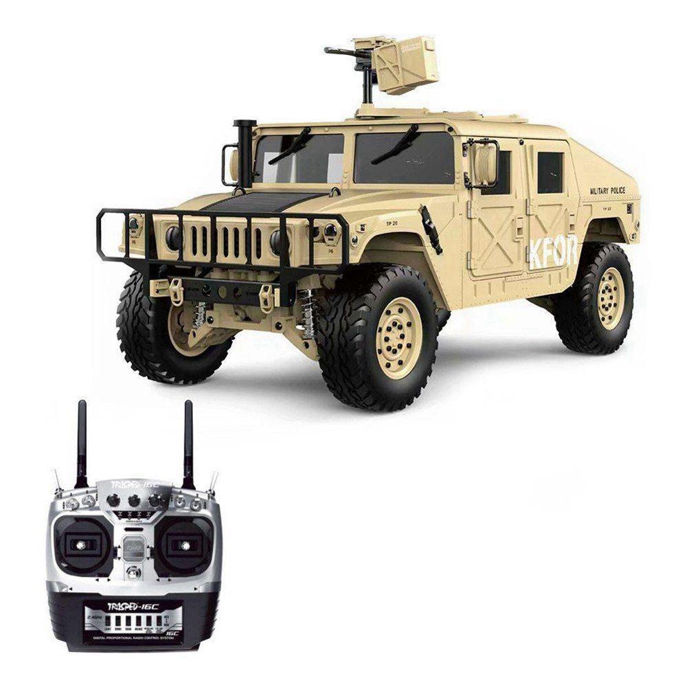 HG P408ライトサウンド機能バージョン1 / 10 2.4G 4WD US4X4軍用車両トラック充電器なしのRCカーカーキ-カーキ