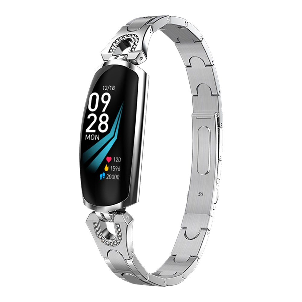 Makibes AK16 Smart Bracelet 0.96 Inches Colorful LCD Screen IP67 Water Resistant Heart Rate Blood Pressure Monitor Fitness Tracker - Silver