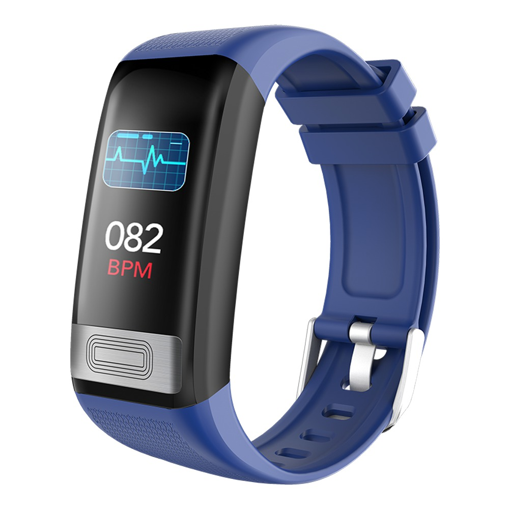 Makibes C20S Smart Bracelet Blood Oxygen Blood Pressure Monitor 1.14 Inch LCD Color Touch Screen IP67 Water Resistant Heart Rate Wristband - Blue