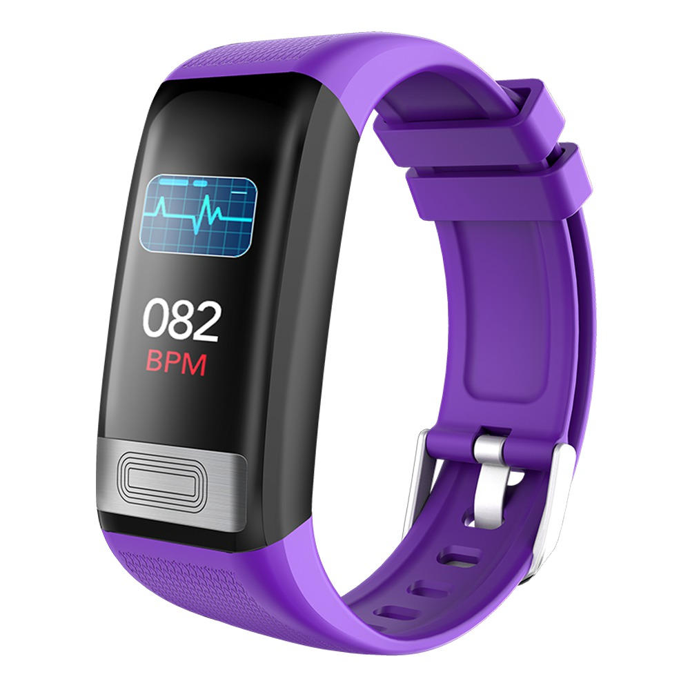 Makibes C20S Smart Bracelet Blood Oxygen Blood Pressure Monitor 1.14 Inch LCD Color Touch Screen IP67 Water Resistant Heart Rate Wristband - Purple