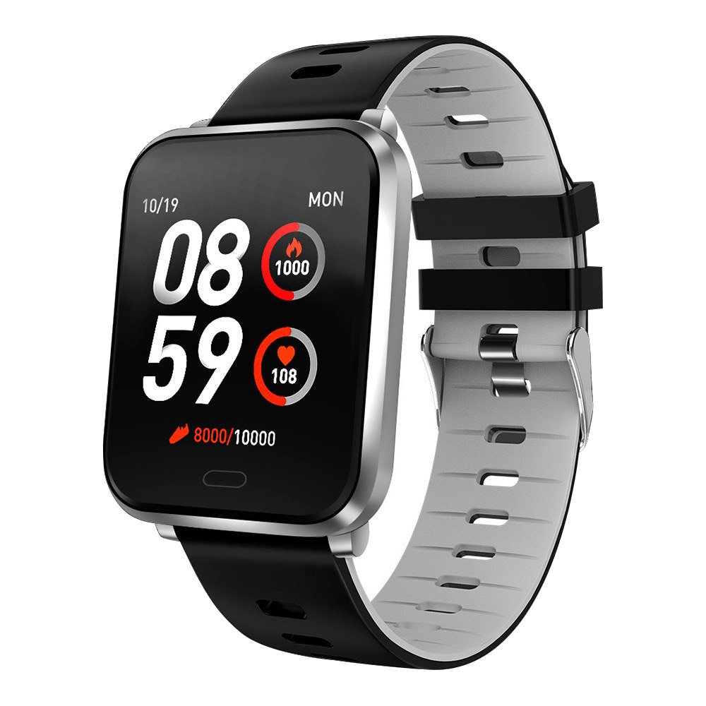 Makibes K10 Smartwatch Remote Camera 1.3 Inch Screen IP68 Water Resistant Heart Rate Blood Pressure Monitor - Gray