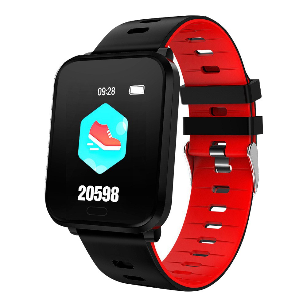 Makibes K10 Smartwatch Remote Camera 1.3 Inch Screen IP68 Water Resistant Heart Rate Blood Pressure Monitor - Red