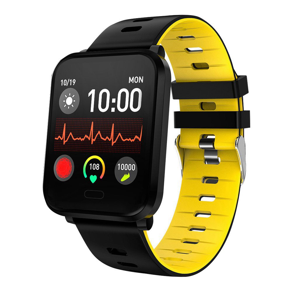 Makibes K10 Smartwatch Remote Camera 1.3 Inch Screen IP68 Water Resistant Heart Rate Blood Pressure Monitor - Yellow