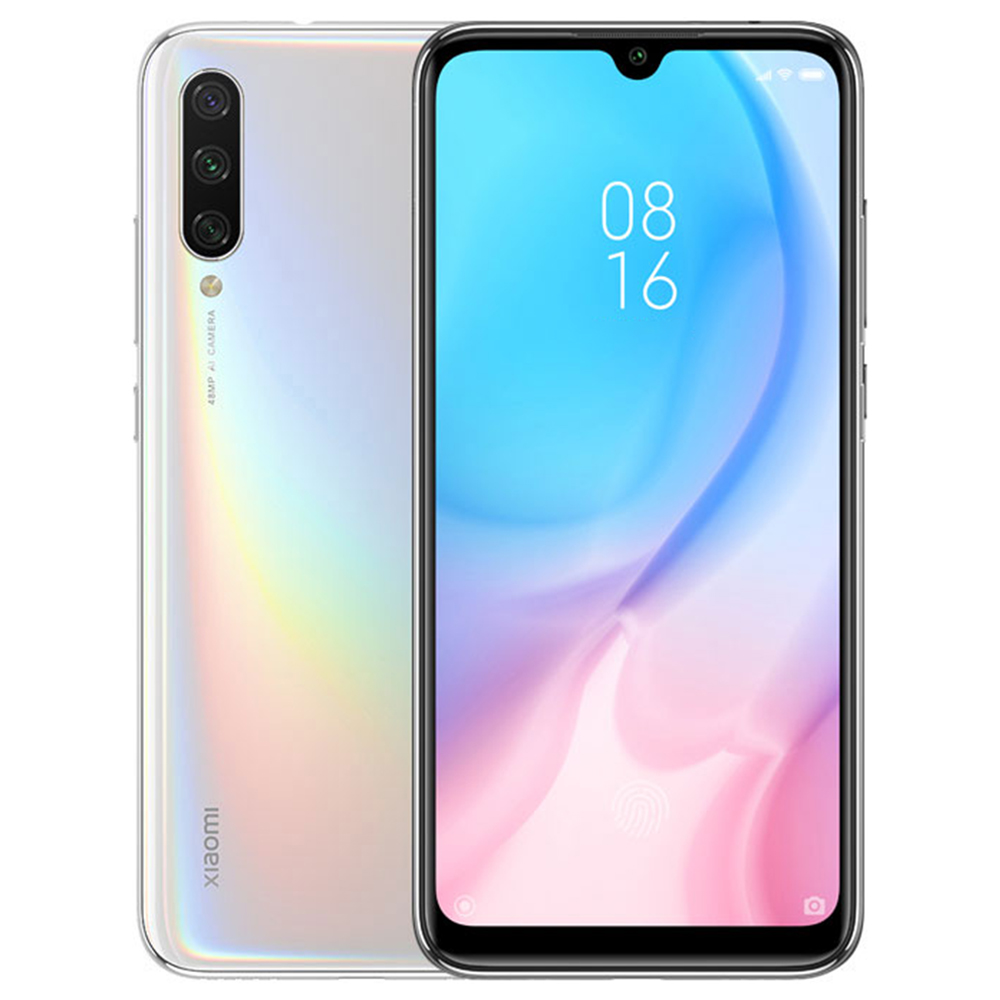 Xiaomi Mi A3 6.088 Inch HD+Screen 4G LTE Smartphone Snapdragon 665 4GB 64GB 48.0MP+8.0MP+2.0MP Three Rear cameras Android One Global Version - White