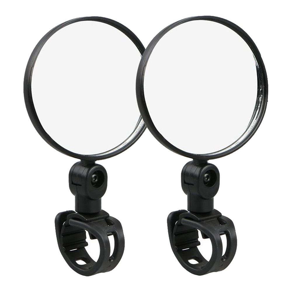 Handlebar Rearview Convex Mirror For Kugoo Electric Scooter - Black