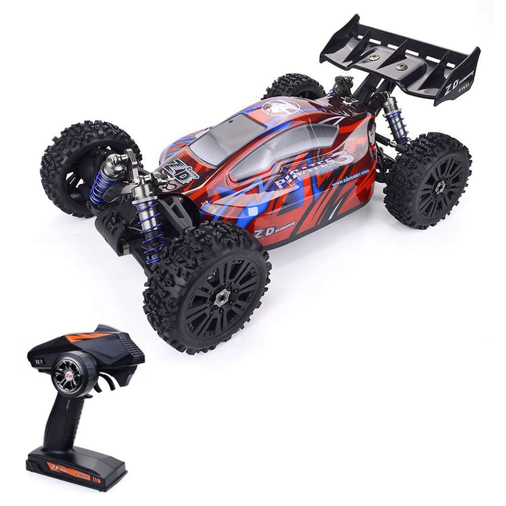 ZD Racing Pirates 3 BX-8E 1 / 8 2.4G 4WD borstelloze elektrische off-road buggy RC-auto met extra autoschaal RTR - rood