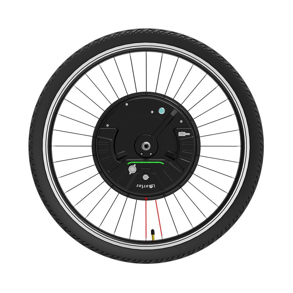 iMortor3 Ruota per bicicletta a motore CC a magneti permanenti 27.5 pollici con controllo app Modalità velocità regolabile Rottura disco - Spina UE