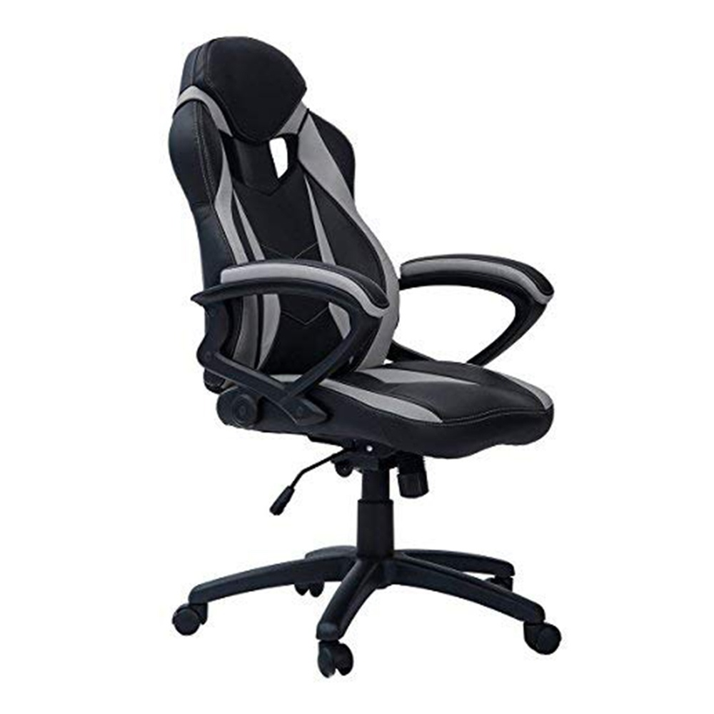 Merax Ergonomic Gaming Chair Leather Adjustable Executive High Back Swivel Office Chair - Grey