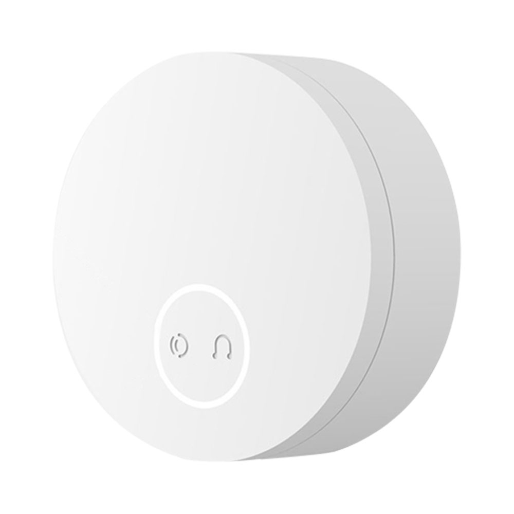 Xiaomi Linptech 110-240V Wireless Doorbell Automatic Generator Mijia APP Music Button CN Plug WiFi Version- White
