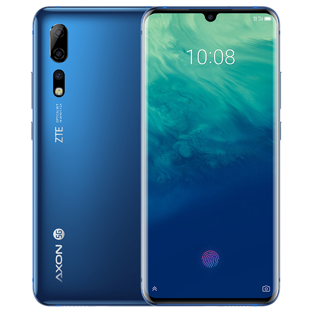 "ZTE Axon 10 Pro CN Version 5G Smartphone 6.47"" FHD+AMOLED Screen Snapdragon 855  6GB 128GB 48.0MP+20.0MP+8.0M Three Rear Cameras 4000mAh Battery In-display Fingerprint Dual SIM Android 9.0 - Blue"