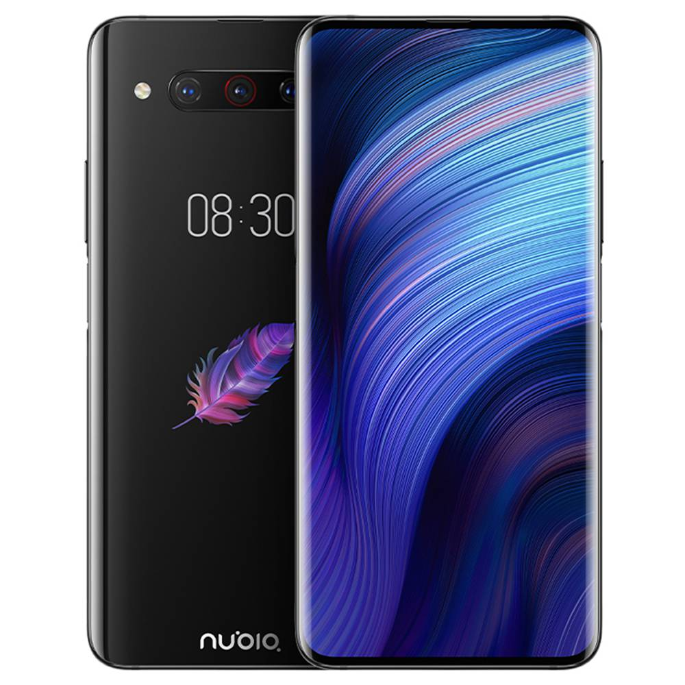 Nubia Z20 NX627J 6.42 Inch FHD+ Screen 4G LTE Smartphone Snapdragon 855 Plus 8GB 128GB 48.0MP+16.0MP+8.0MP Triple Rear Cameras Android 9.0 - Black
