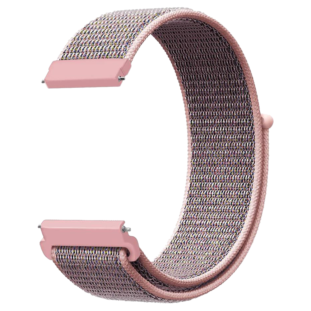 Replacement Watch Band for Huami Amazfit GTR 47MM Loop Nylon Canvas Strap - Pink фото