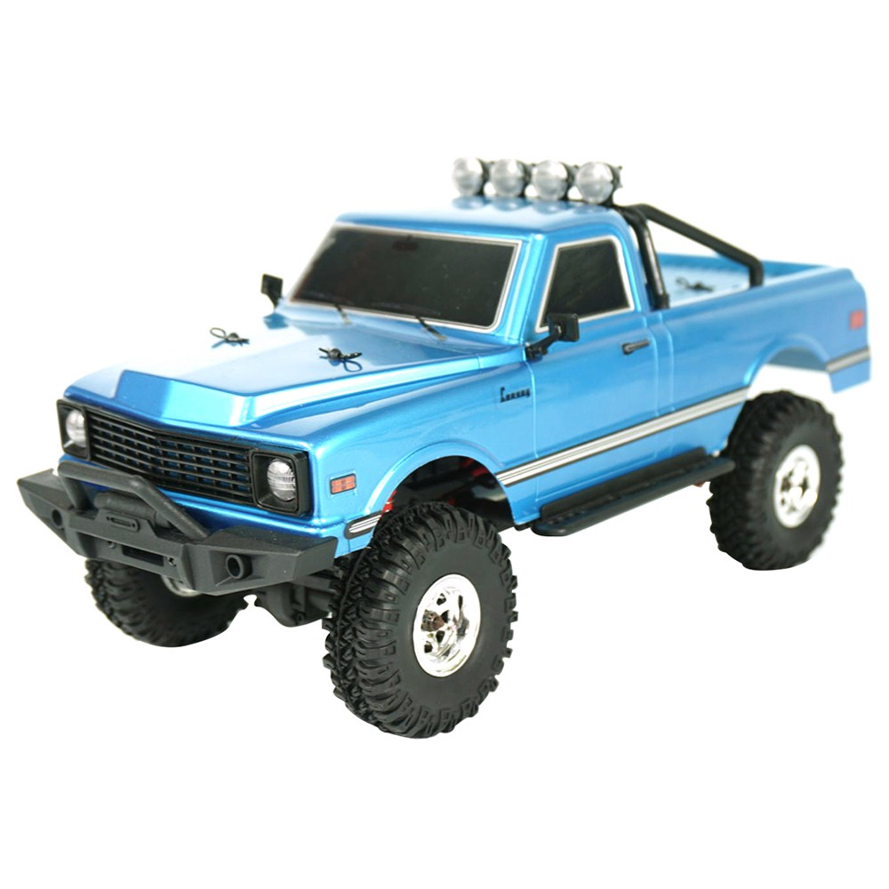 Hobby Plus CR-18 Convoy Body 1/18 2.4G 4WD Brushed MINI RC Crawler Climbing RC Car With LED Light RTR - Blue