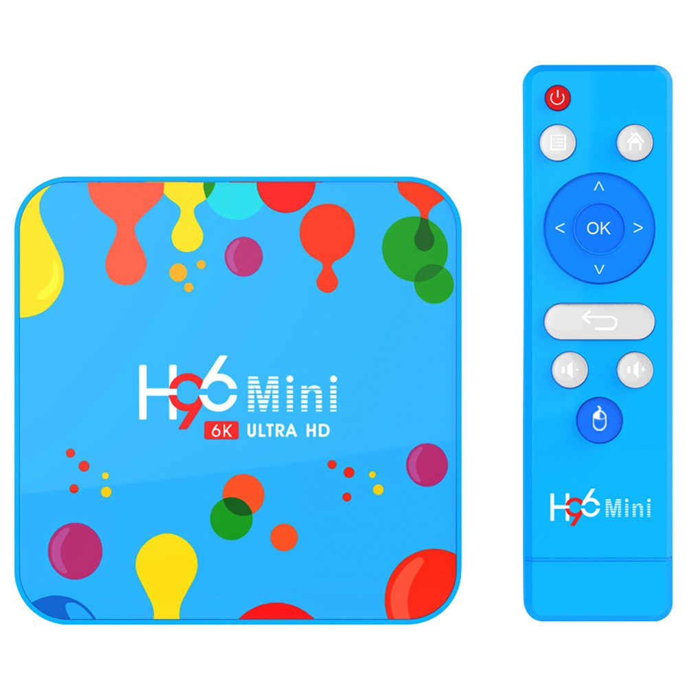 H96 Mini Allwinner H6 Android 9.0 HDR 6K TV Box 4GB/128GB 2.4G+5G WiFi Bluetooth USB3.0 Youtube Google Play Wireless Screen Projection