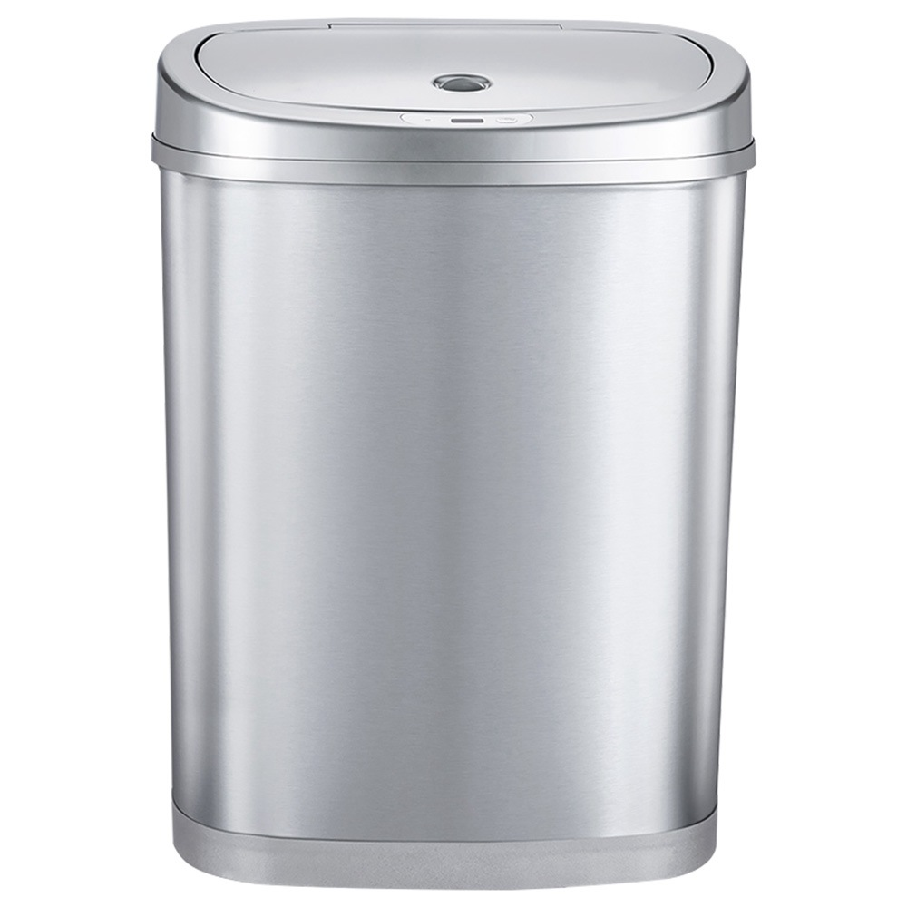 Xiaomi NINESTARS Double Classification Induction Trash Can 30 Liters - Silver фото