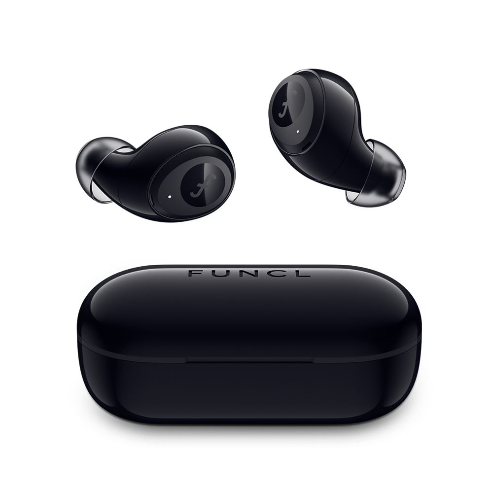 Funcl W1  Bluetooth 5.0 TWS Earphones Realtek SoC IPX5 Sweatproof Binaural Call HiFi Stereo Sound Voice Assistant - Black