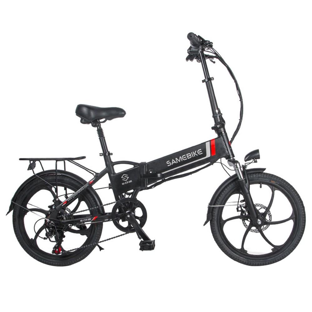 Samebike 20LVXD30 draagbare opvouwbare slimme elektrische 10Ah batterij bromfiets 350W motor max 35km / u 20 inch band - zwart